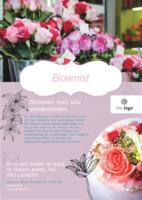 Bloemist A5 flyers door Templatecloud