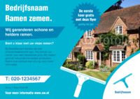 Glazenwassen A5 flyers door Templatecloud