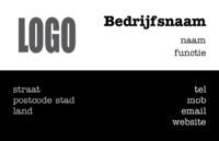 Basic Visitekaart zwart vlak door Templatecloud