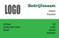 Basic Visitekaart Groen vlak door Templatecloud