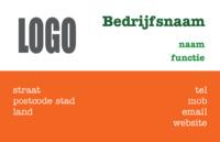 Copy of Basic Visitekaart Oranje vlak door Templatecloud