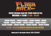 Nachtclub A6 flyers door Templatecloud