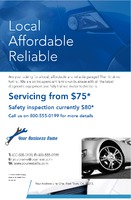 """Garage Services 5.5"""" x 8.5"""" Flyers by Templatecloud"""