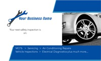 """Garage Services 2"""" x 3.5"""" Business Cards by Templatecloud"""