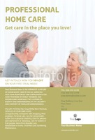 "Care Homes 4"" x 6"" Flyers by C V"