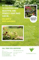 "Lawn Maintenance 5.5"" x 8.5"" Flyers by C V"
