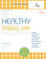 """Pet Care 8.5"""" x 11"""" Flyers by Templatecloud"""