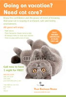 """Pet Care 4"""" x 6"""" Flyers by Templatecloud"""