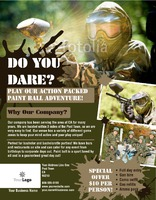"Paintball 8.5"" x 11"" Flyers by Rebecca Doherty"