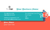"Travel Agents 2"" x 3.5"" Business Cards by C V"