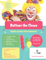 "Children's Entertainer 8.5"" x 11"" Flyers by Rebecca Doherty"