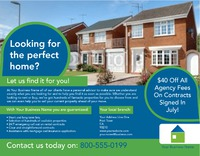 """Estate Agents 8.5"""" x 11"""" Flyers by Rebecca Doherty"""