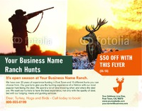 """Hunting 8.5"""" x 11"""" Flyers by Ro Do"""