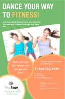 "Fitness 5.5"" x 8.5"" Flyers by Templatecloud"
