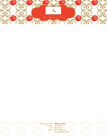 "Restaurant 8.5"" x 11"" Stationery by C V"