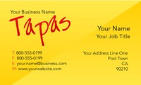 """Restaurant 2"""" x 3.5"""" Business Cards by Templatecloud"""