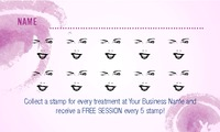 "Salon 2"" x 3.5"" Cards by C V"
