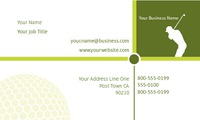 "Golf 2"" x 3.5"" Business Cards by Paul Bullock"