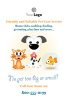 "Pet Care 4"" x 6"" Flyers by Templatecloud"