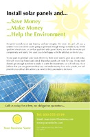 "Solar Panels 5.5"" x 8.5"" Flyers by Paul Wongsam"