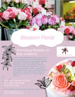 "Florist 8.5"" x 11"" Flyers by Ro Do"