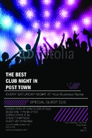 """Clubs 4"""" x 6"""" Flyers by Rebecca Doherty"""