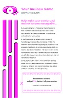 """Hypnotherapy 5.5"""" x 8.5"""" Flyers by Laura Marples"""