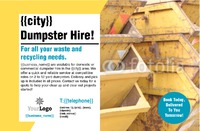 "Dumpster Hire 5.5"" x 8.5"" Flyers by Rebecca Doherty"