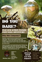 """Paintball 4"""" x 6"""" Flyers by Rebecca Doherty"""