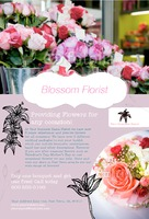 """Florist 4"""" x 6"""" Postcards by Ro Do"""