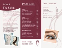 "Salon 8.5"" x 11"" Brochures by Templatecloud"