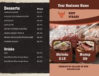 "Restaurant 8.5"" x 11"" Brochures by TemplateCloud.com"
