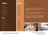 """Cafe 8.5"""" x 11"""" Brochures by TemplateCloud.com"""