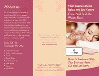"Beauty Salon 8.5"" x 11"" Brochures by Templatecloud"