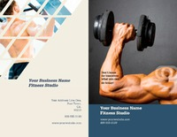 "Fitness 8.5"" x 11"" Brochures by Templatecloud"