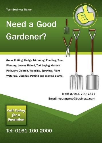 Garden Maintenance A5 Leaflets Printing Com