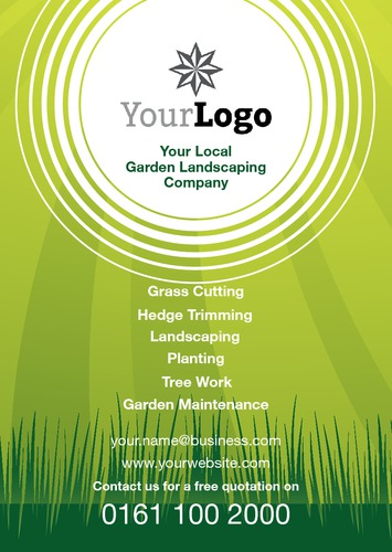 Garden maintenance a5 flyers for Garden maintenance flyers