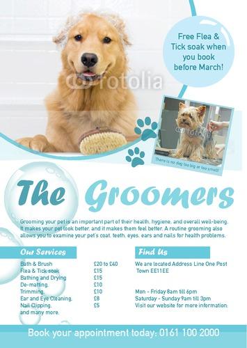 pics photos   dog grooming flyers flyer templates