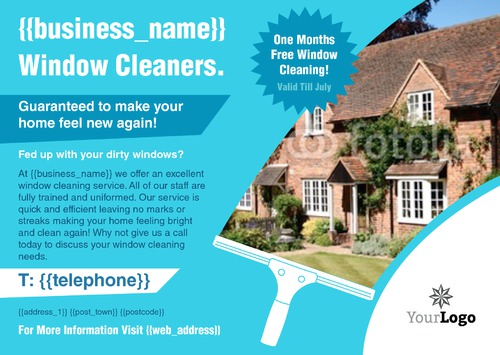 Window Cleaning A4 Leaflets by Ro Do