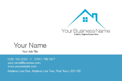 Home builder logo designs quotes for Home improvement business card template