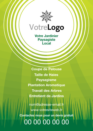 Entretien des jardins a5 flyers for Entretien de jardin prix