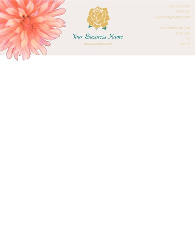 """Lawn Maintenance 8.5"""" x 11"""" Stationery by TemplateCloud.com"""