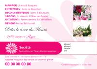 Fleuriste A5 Tracts par Templatecloud