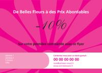 Fleuriste A6 Tracts par Templatecloud
