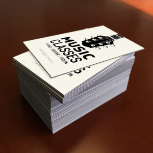 32PT Uncoated Black EDGE Business Cards