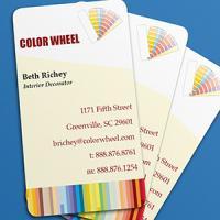 Business Card Punched Fabu-Gloss 1 sided UV