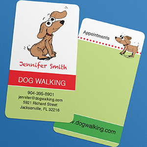 Business Card Punched Ultra-soft finish both sides