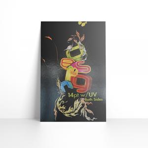 14PT Postcards + UV on color side(s)