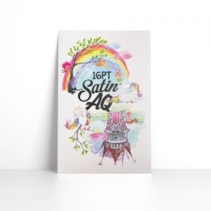 16PT Postcards + Satin AQ